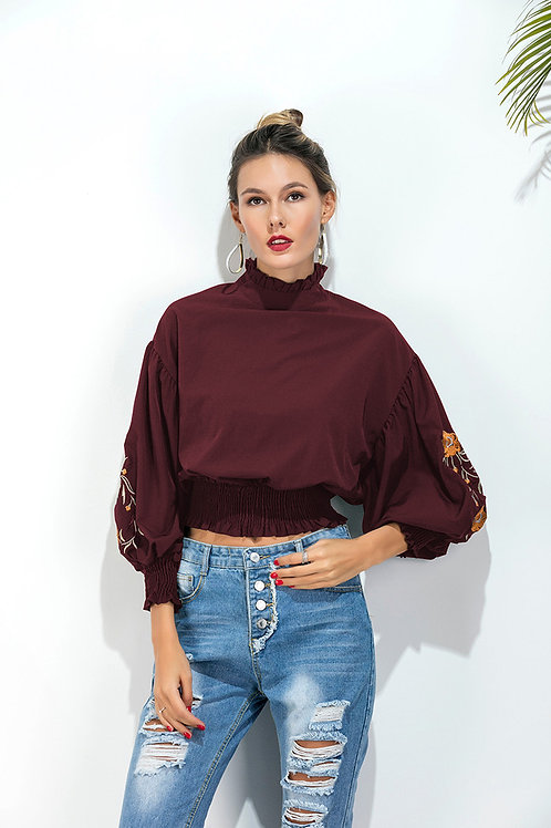 Chic Boss Embroidery Top