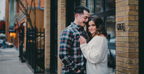 RYAN + ALEXA | DOWNTOWN NEW HAVEN, CT PIZZA FILLED ENGAGEMENT SESSION