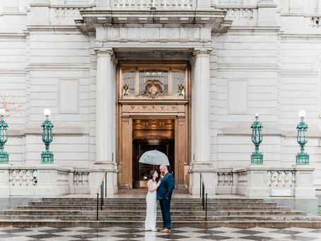 RENE + SCOTT | RAINY DAY HARTFORD CITY HALL ELOPEMENT | HARTFORD CT
