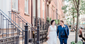 CAITLIN + HAZEL | JEFFERSON MARKET PARK & BOBO RESTAURANT , NEW YORK NY | INTIMATE CITY WEDDING