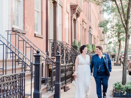 CAITLIN + HAZEL | JEFFERSON MARKET PARK & BOBO RESTAURANT , NEW YORK NY | INTIMATE CITY WEDDING