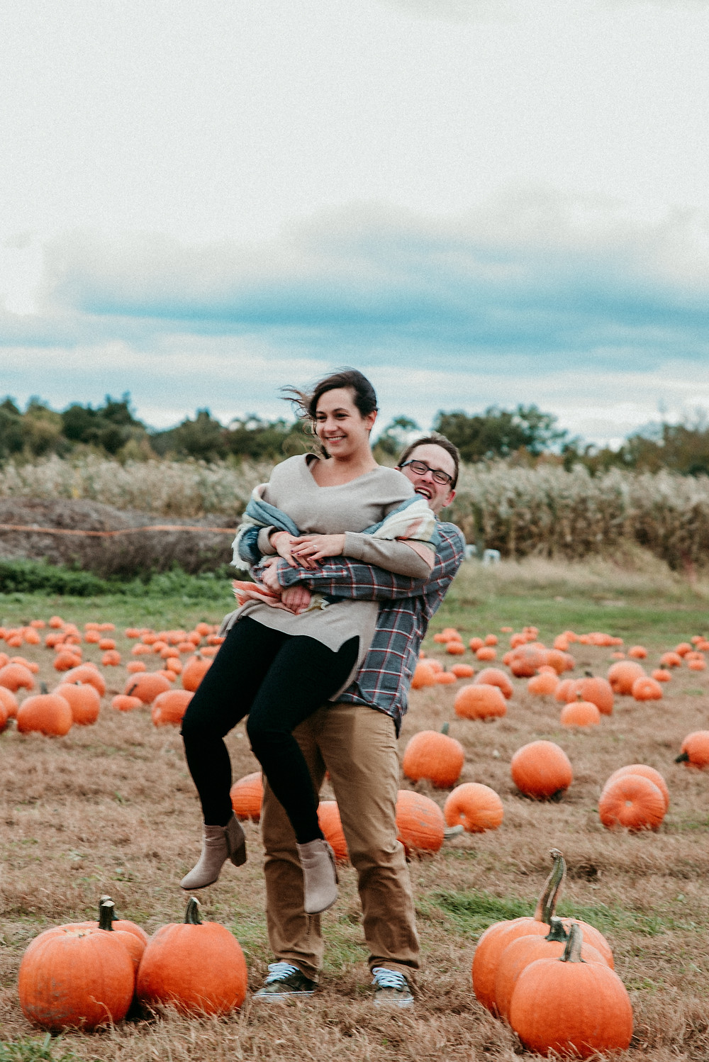 Autumn Engagement Session at Terhune Orchards