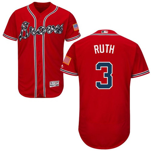 save off 7e762 b20dd Babe Ruth Atlanta Braves Majestic Jersey