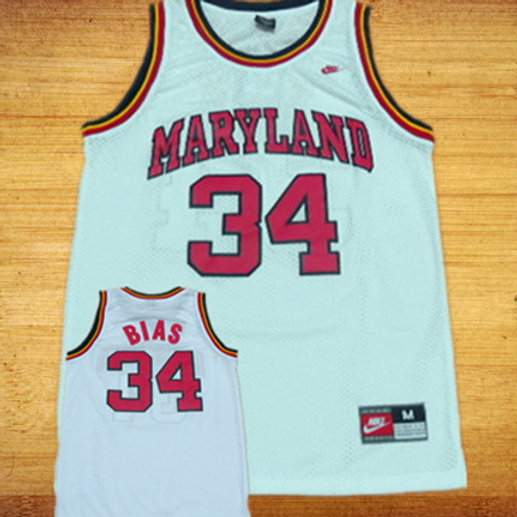 huge selection of fd485 6c73c Len Bias Maryland Terrapins Nike Jersey
