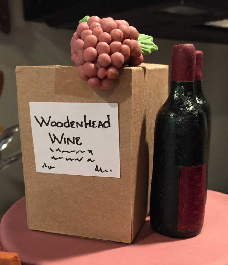 Case of Woodenhead Wine w/grapes
