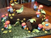 Enchanged log cake