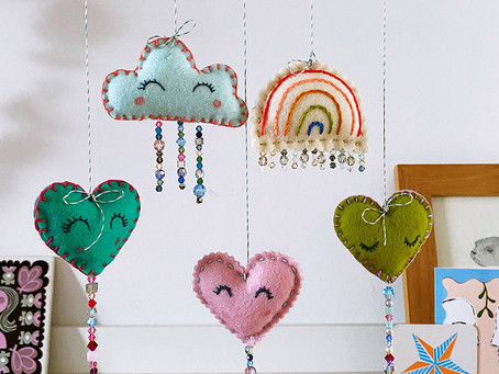 Make: Hearts and Rainbows mobile