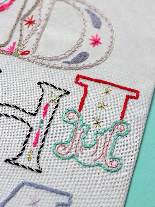 LETTER I EMBROIDERY TEMPLATE AND INSTRUCTIONS