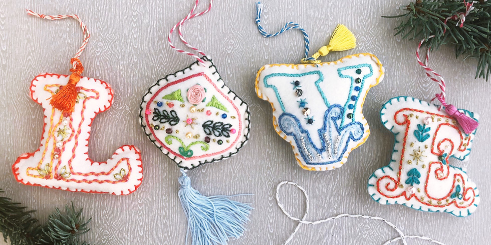 EMBROIDERED DECORATIONS