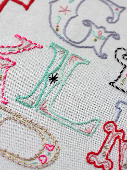 LETTER L EMBROIDERY TEMPLATE AND INSTRUCTIONS