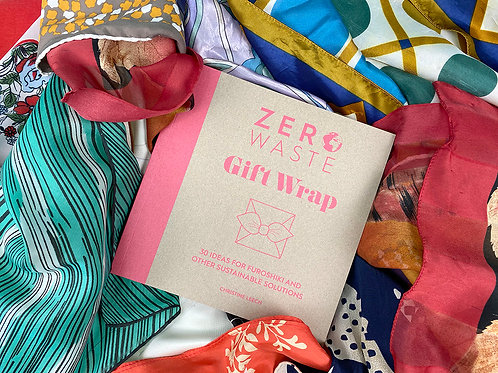 SIGNED ZERO WASTE GIFT WRAP BOOK WITH VINTAGE SCARF