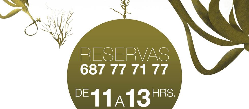Nuestro horario de reservas.