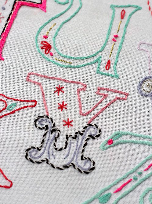 LETTER Y EMBROIDERY TEMPLATE AND INSTRUCTIONS