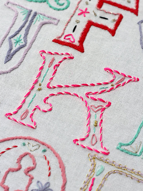 LETTER K EMBROIDERY TEMPLATE AND INSTRUCTIONS