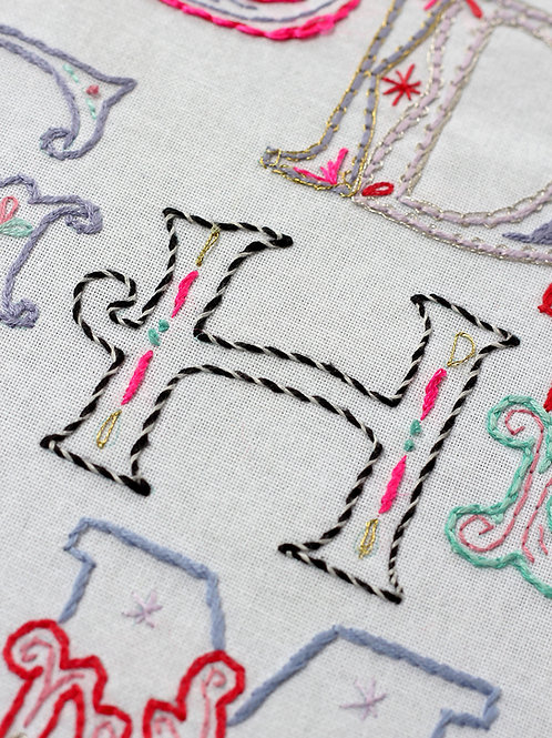 LETTER H EMBROIDERY TEMPLATE AND INSTRUCTIONS