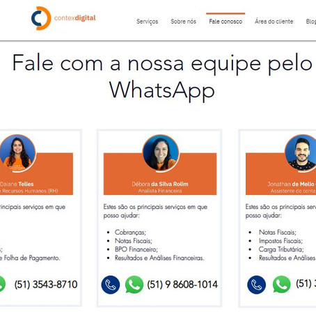 Contex Digital apresenta novo Fale Conosco em seu site