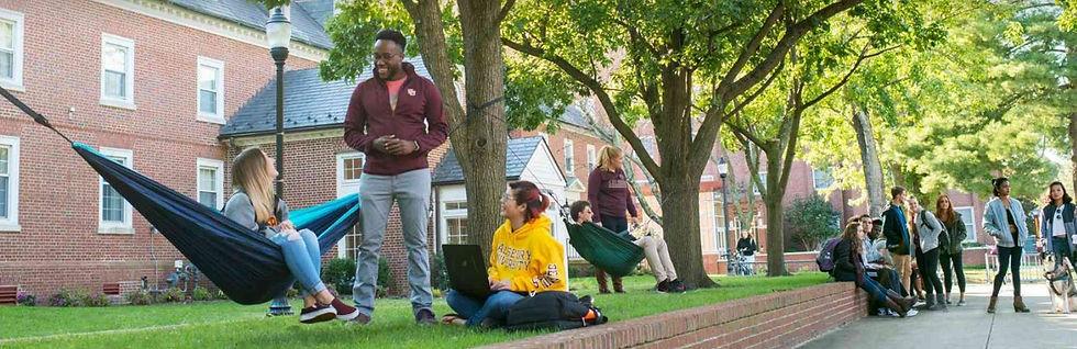 SU Students Outside (via Niche).jfif
