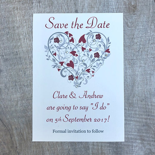 Love Heart Save the Date