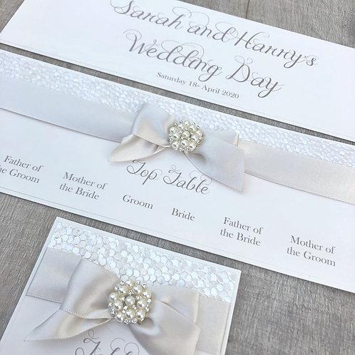 Luxury wedding table plan