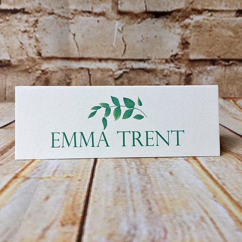 Botanical Name Place Card