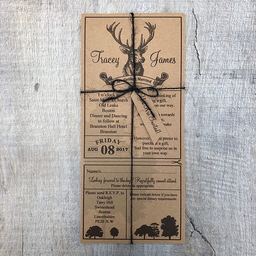 stag wedding invitations