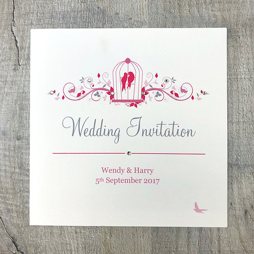 Pink Wedding Invites