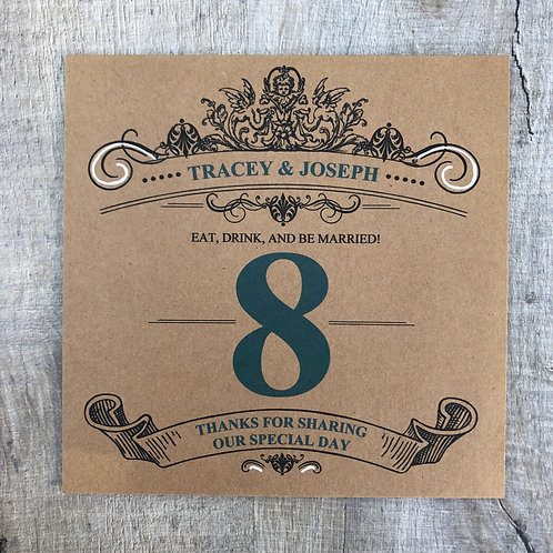 Quirky table numbers
