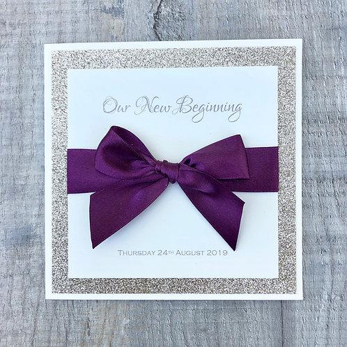 Gold & burgundy wedding invites