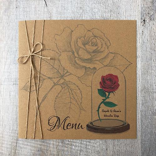 Vintage Red Rose (Menu)