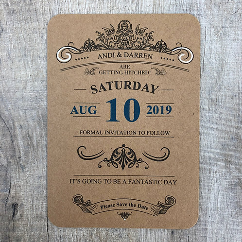 Vintage theatre save the date