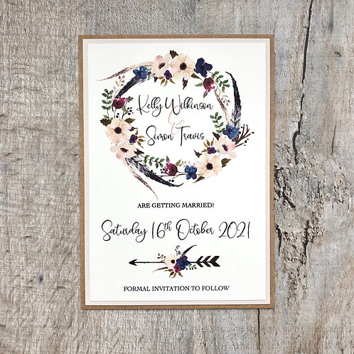 Boho save the dates