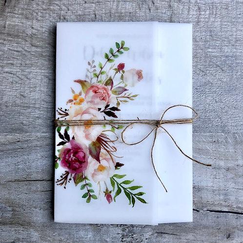 rustic vellum wedding invitations