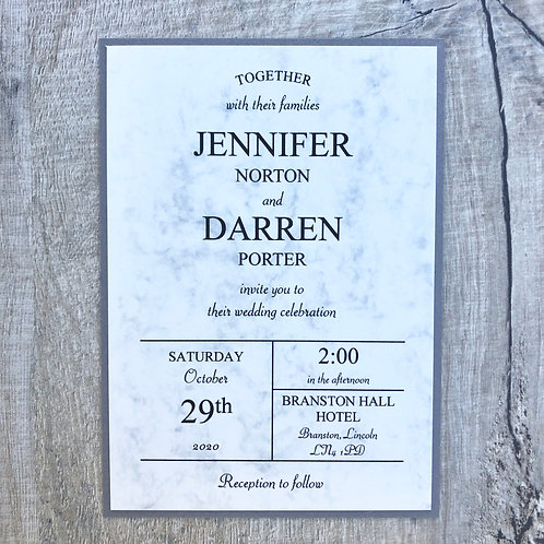 Marble wedding Invites