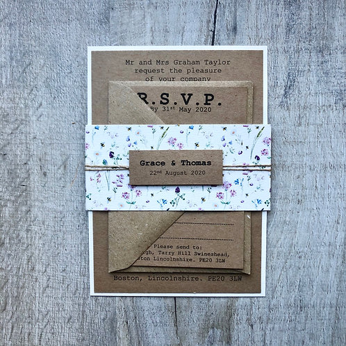 Wild Garden (A6 Flat Bundle Wedding Invite)