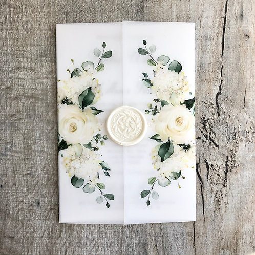 ivory vellum wedding invitations