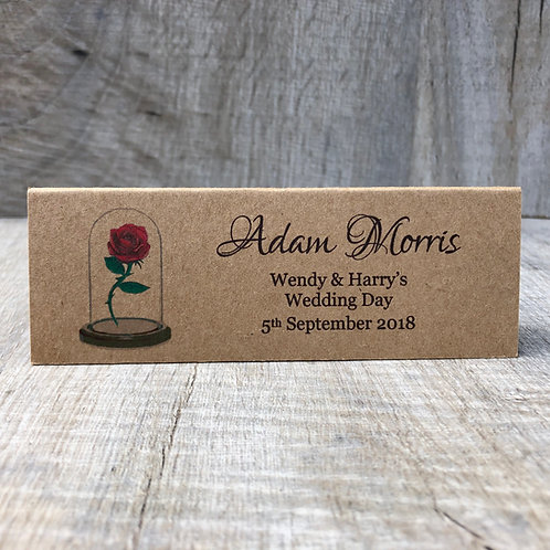 Vintage Beauty & the Beast Name Cards