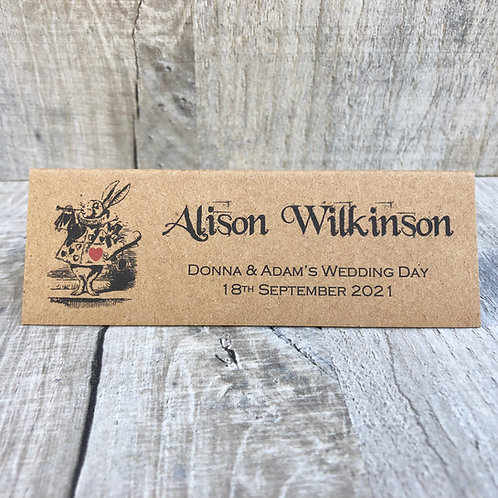 Alice in Wonderland Name Place Card