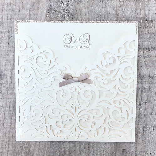 Kelly (Flat Laser-Cut Wedding Invitation)