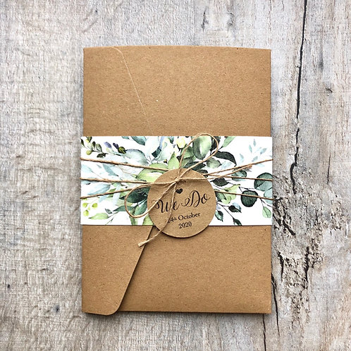 rustic botanical invitation