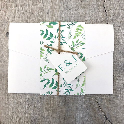 Botanical Pocket Fold Wedding Invite