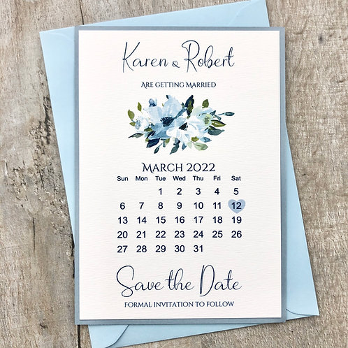 blue save the date