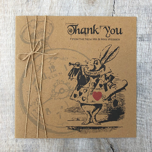 Mad Hatters Tea Party Thank You Card