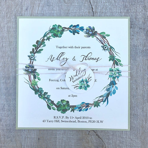 Succulent & Cactus Wedding Invitation