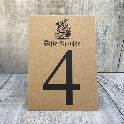 tea party table numbers