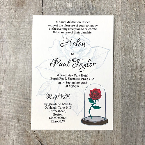 Beauty & The Beast Wedding Invitations