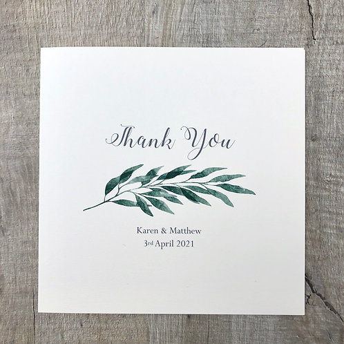 Botanical Thank You card
