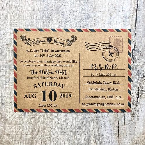 Destination wedding invite