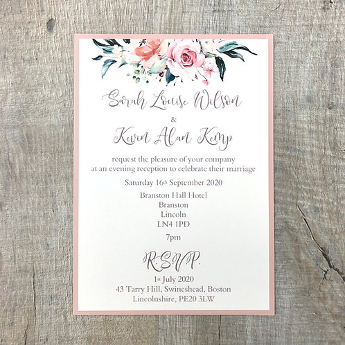 Blush Wedding Invites