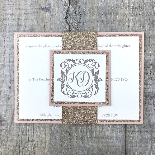 Glitter Wedding Invites