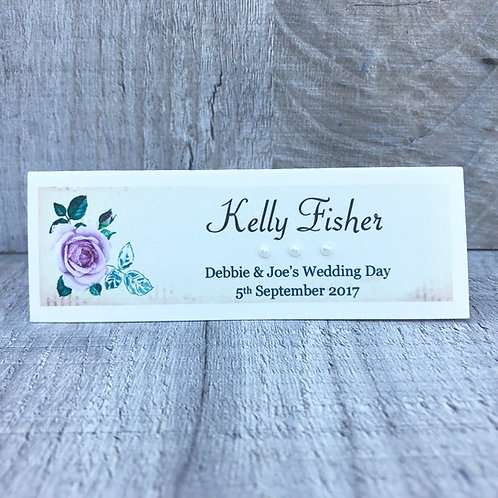 Vintage Rose Guest Name Place Card